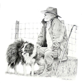 Shepherd with Collie